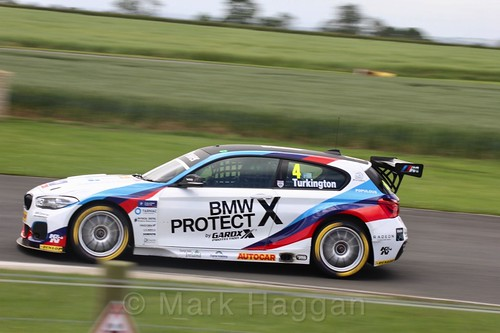 Colin Turkington in BTCC action at Croft, June 2017