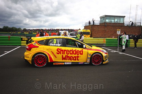 Mat Jackson on the BTCC grid at Croft, June 2017