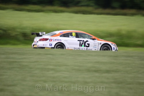 Will Burns in BTCC action at Croft, June 2017