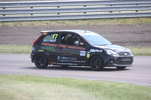 James Waite in the Fiesta Junior championship at Rockingham, June 2017