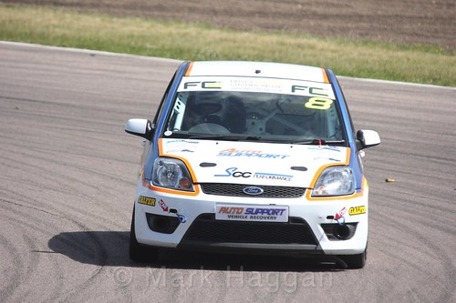 Richard Dawson in the Fiesta championship Class C at Rockingham, June 2017