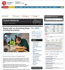 Snapshot 'Repair cafés' are about fixing things - including the economy - www.thebull.com.au i5nyr
