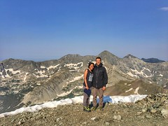 Aman and I on the Mount Lindsey summit