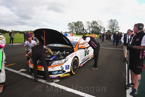 Will Burns on the BTCC grid at Croft, June 2017