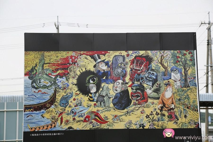 [鳥取.旅遊]米子境港.鬼太郎妖怪街道商店街~妖怪無所不在.鬼太郎咖啡.限定伴手禮 @VIVIYU小世界