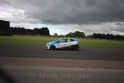 Paul Rivett in the Renault Clio Cup during the BTCC weekend at Croft, June 2017