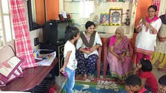 A visit by the Krishna Garden group of ladies on the everyday program of bhajan at Sudhama Old Age Home-3