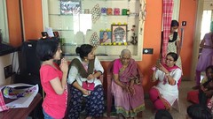A visit by the Krishna Garden group of ladies on the everyday program of bhajan at Sudhama Old Age Home-4