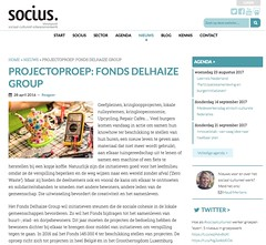 Snapshot Projectoproep: Fonds Delhaize Group 6fgq7