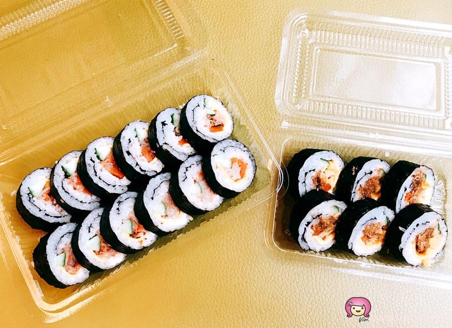 [八德美食]隱藏版銅板美食『壽司桑』~早上出沒的限量小吃.晚來吃不到.多款創意壽司 @VIVIYU小世界
