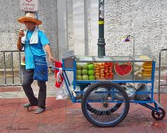 "Fruit salesman in Bangkok • <a style=""font-size:0.8em;"" href=""http://www.flickr.com/photos/23163398@N00/36612845475/"" target=""_blank"">View on Flickr</a>"