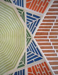 Colorful brick ceiling design - Tabriz, Iran
