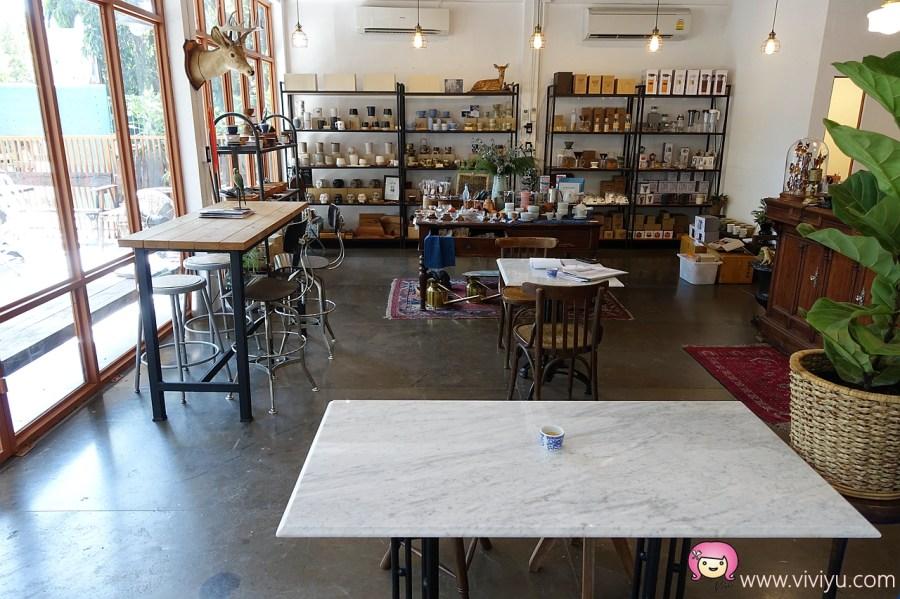 Blue Dye Cafe,Thonglor站,布丁豆腐咖啡,曼谷咖啡,曼谷美食,泰國咖啡館 @VIVIYU小世界