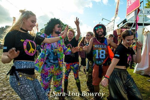 crowds and scenes at Bestival 2017