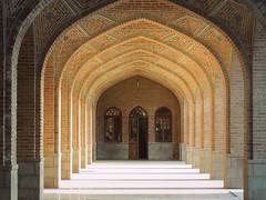 Mosque archway symmetry - Blue mosque - Tabriz, Iran