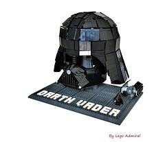 Wearable Lego Darth Vader Helmet