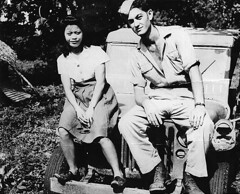 Chamorro Girl and Soldier
