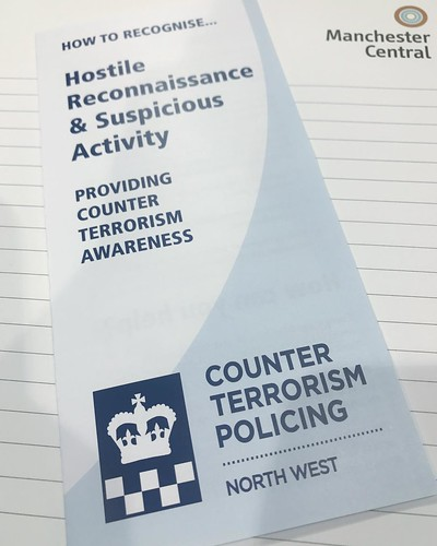 Today is all about...attending an anti-terrorism awareness meeting