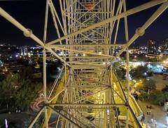 Inside of Ferris wheel in amusement park at night - Tabriz, Iran