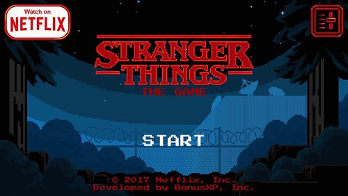 Today is all about...getting addicted to the Stranger Things game