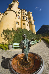 Geese Man Fountain in Castle Hohenschwangau