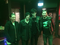 Me with Black Rebel Motorcycle Club