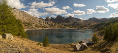 lac d`allos Refuge Pano