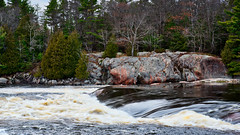 2017-11-22 365 Thessalon river rapids, Hwy 17 Ontario