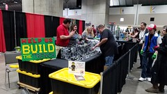 KC Brick Lab's Community Built Death Star Trench at Kansas City Comic Con 2017