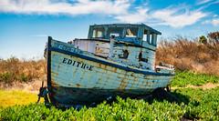 Edith E on the Hard