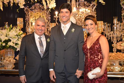 Bruno com seu pais, Lintz e Cristina