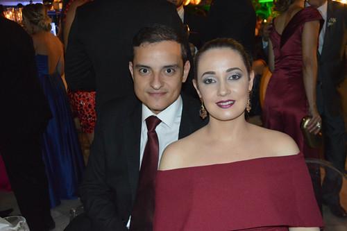Hercílio Diniz Neto e Lorena, que comandam o Supermercado Coelho Diniz de Coronel Fabriciano