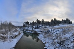 the freezing Musselshell River