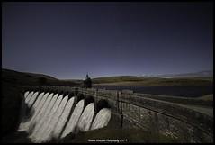Graig Coch dam at night
