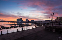 Sunset over Cardiff Bay