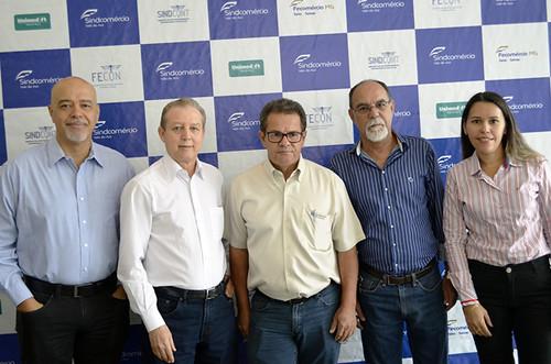 Julio Cesar Vitor, José Maria Facundes, Fábio de Freitas Campos, Ladico Oliveira e Ismara Carla - Foto Emmanuel Franco