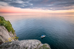 Boat Sunset on Lake Superior