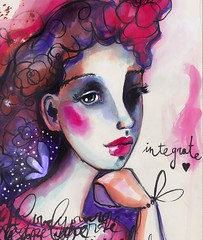 This is another lesson for #SheBloomsinInk . In this lesson we explore high contrast. :) You can join here: bit.ly/SheBlooms ❤️🌺❤️🌺 #willowing #willowingarts #mixedmedia #mixedmediaart #artistsofinstagram #tamaralaporte #art