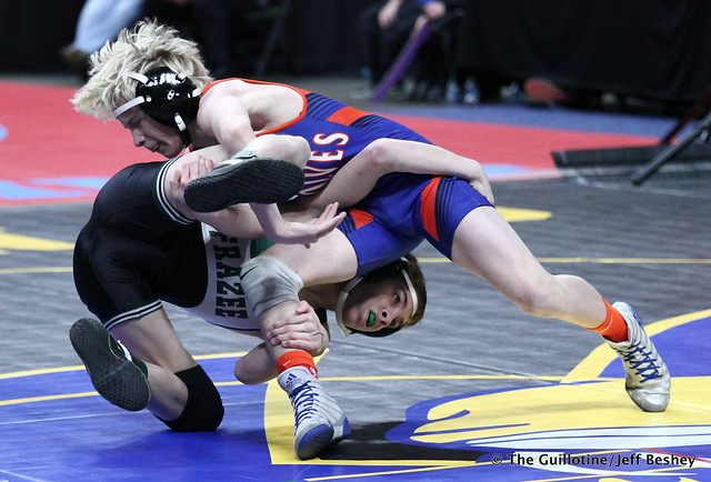 106 - Carter Meiners (LPGE-Browerville) over Christian Carlson (Frazee) TF 23-6. 180301BJF0010