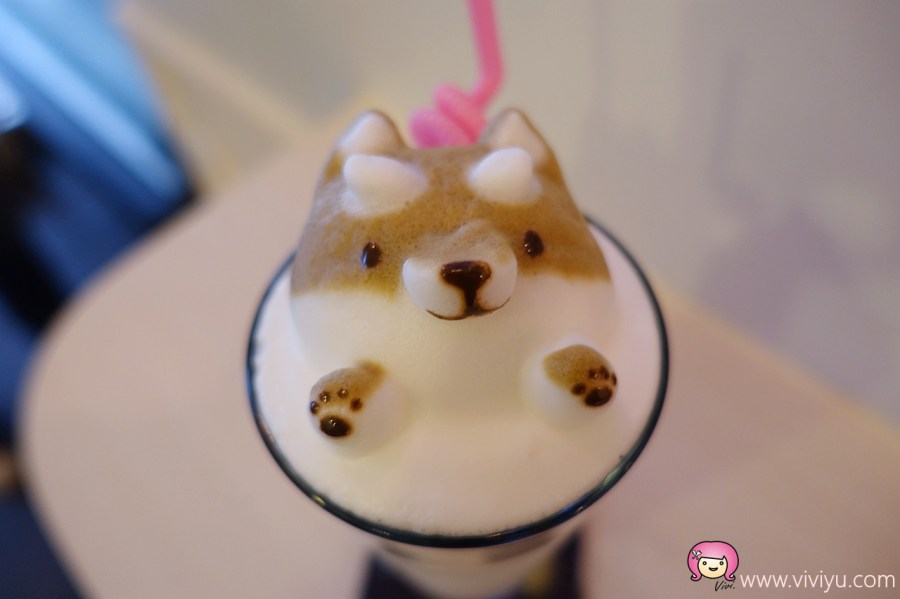 下午茶,咖啡拉花,桃園咖啡,桃園美食,立體拉花,貓鼻子,貓鼻子複合式咖啡餐飲 @VIVIYU小世界