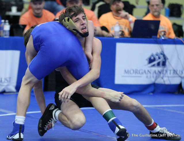 113 - Dawson Legg (Commerce) over Isaiah Mlsna (St. Michael-Albertville) Dec 6-3. 171229AJF0066
