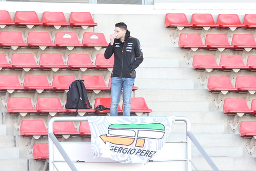 A Sergio Perez fan at Formula One Winter Testing 2018