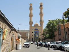 Middle East alley and mosque, Tabriz, Iran