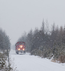 Snowy train to CP Oxford Station