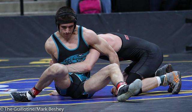 138A Semifinal - Gage Zieske (Osakis) 44-2 won by decision over Alex Borsgard (Windom-Mountain Lake) 40-6 (Dec 12-7) - 180303amk0039