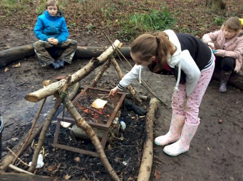 Getting Muddy at Forest School