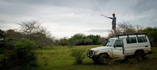 Anton Roberts tracking black mamba pic Lizelle Keyser