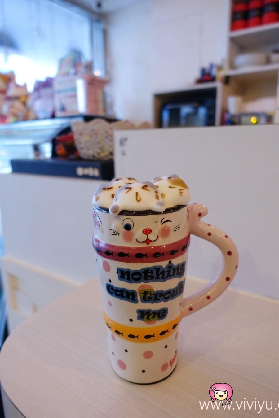[桃園美食]貓鼻子複合式咖啡餐飲~咖啡、鮮奶茶上有超萌立體拉花.美好下午茶時光 @VIVIYU小世界