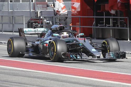 Lewis Hamilton during Formula One Winter Testing 2018