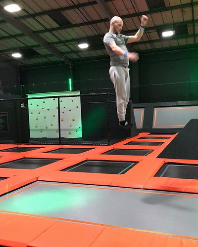 Today is all about...some trampolining fun